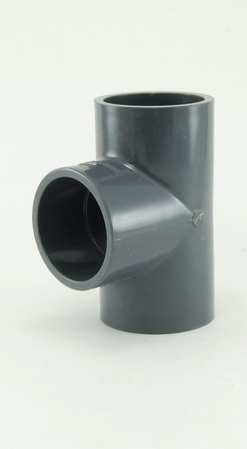Sch 40 Grey PVC Tee s x s x s - Schedule 40 Grey Fittings ...