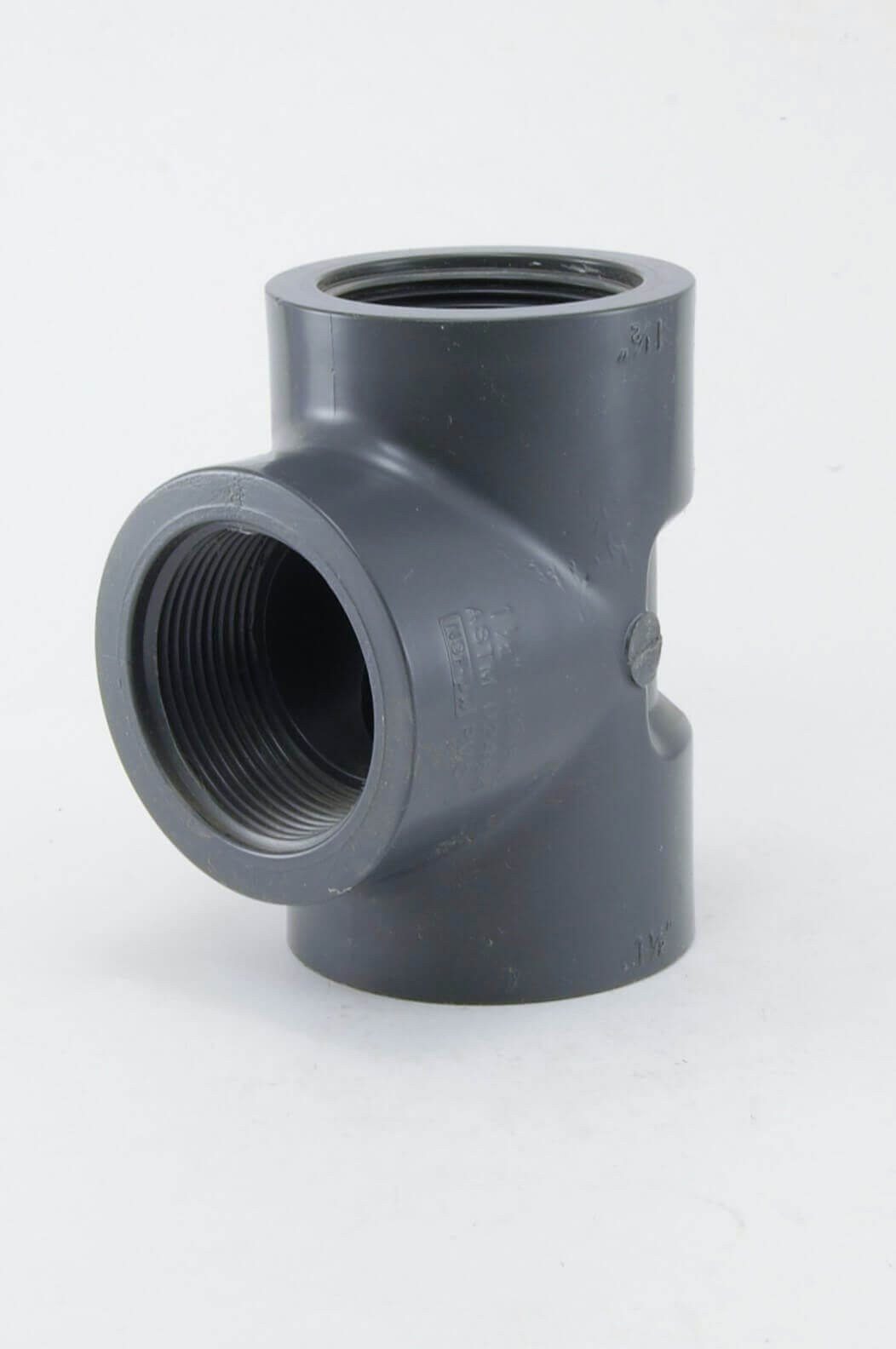 Sch 80 Grey Pvc Tee Fpt X Fpt X Fpt Schedule 80 Fittings